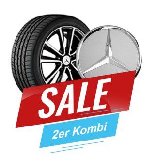 Aktionsset Mercedes-Benz 18 Zoll Sommerkompletträder Satz, CLA, 5-Doppelspeichen Design inkl. Raddeckel