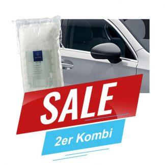Aktionsset Mercedes-Benz Spiegelkappe Carbon-Style, A-Klasse W177, V177 & Polierwatte kostenlos