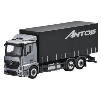 Mercedes-Benz Antos, 3-achsig, Pritsche und Plane, Modellauto, Maßstab 1:87