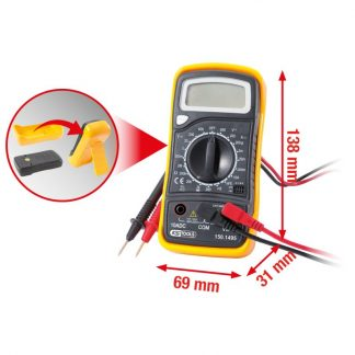 KS Tools Digital Multimeter inkl. Prüfspitzen