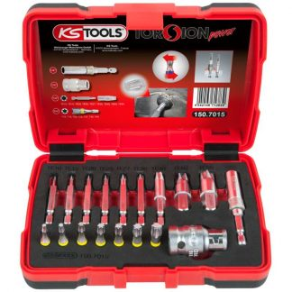 "KS Tools 1/4"" + 10 mm Torx-Schrauben-Ausdreher-Satz, 18-tlg."