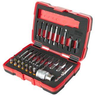 """KS Tools 1/4"""" + 10 mm Torx- und Innensechskant-Schrauben-Ausdreher-Satz, 34-tlg."""