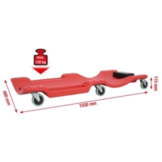 KS Tools Fahrbare Liege, L1030xB480xH115mm