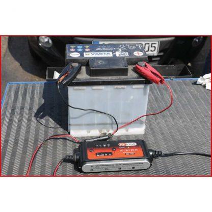 KS Tools 6V + 12V SMARTcharger Hochfrequenz-Batterieladegerät 4A