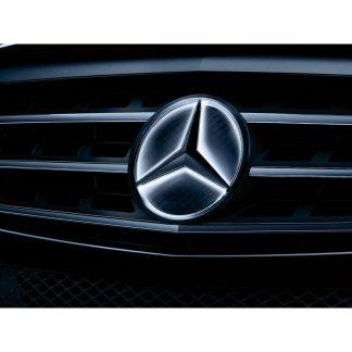 Mercedes-Benz, Mercedes Stern beleuchtet, Dekorteil, für diverse Modelle