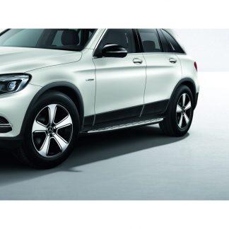 Mercedes-Benz, GLC Trittbrett, in Aluminiumoptik mit Gumminoppen, Satz, C253 und X253