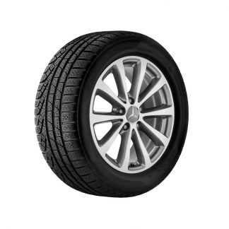 Mercedes-Benz Winterkompletträder Satz, E-Klasse, 17 Zoll, 10-Speichen Design, glanzgedreht