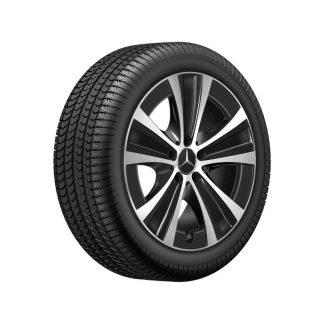 Mercedes-Benz Winterkompletträder Satz, E-Klasse, 18 Zoll, 5-Speichen Design, Mischbereifung