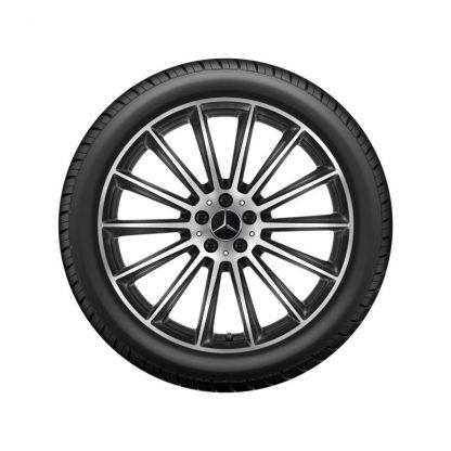 AMG Winterkompletträder Satz, GLE, 21 Zoll, Vielspeichen-Design, Mischbereifung