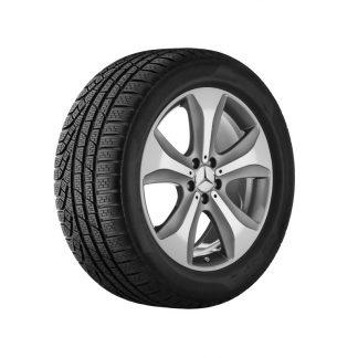 Mercedes-Benz Sommerkompletträder Satz, S-Klasse BR217, BR222, 19 Zoll, 5-Speichen Design Mischbereifung