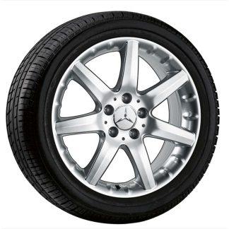 Alufelge Mercedes-Benz, C-Klasse, CLK. E-Klasse, SLC-SLK, 17 Zoll, 7-Speichen-Design