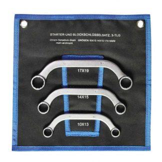 SW Stahl, Starter- und Blockschlüsselsatz, 10-19 mm, 3-teilig