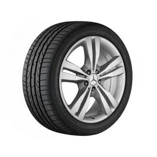 Mercedes-Benz Sommerkompletträdersatz, M-GLE Klasse, 19 Zoll 5-Doppelspeichen Design