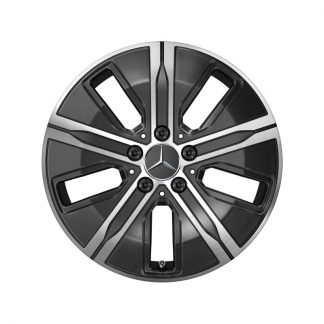 Alufelge Mercedes-Benz 17 Zoll, A-Klasse, GLA H247, CLA, 5-Speichen-Design, Aero