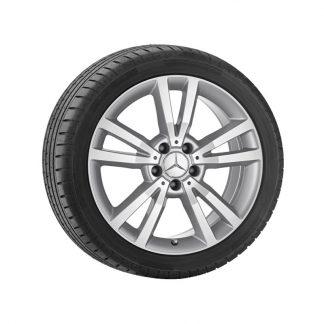 Mercedes-Benz Sommerkompletträder Satz, 18 Zoll, E-Klasse A207, C207, 5-Doppelspeichen Design