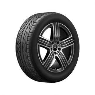 Mercedes-Benz Sommerkompletträder-Satz, GLA H247, GLB X247, 18 Zoll, 5-Speichen Design
