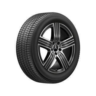 Mercedes-Benz Winterkompletträder Satz, 18 Zoll, GLA H247, GLB X247, 5-Speichen Design, Aero-optimiert