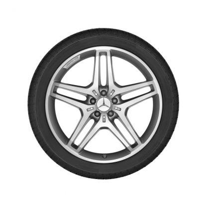 21 Zoll AMG Sommerkompletträder Satz, M-Klasse W166, 5 Doppelspeichen Design