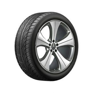 Mercedes-Benz Sommerkompletträder Satz, GLS X167, 21 Zoll, 5-Speichen Design, Mischbereifung