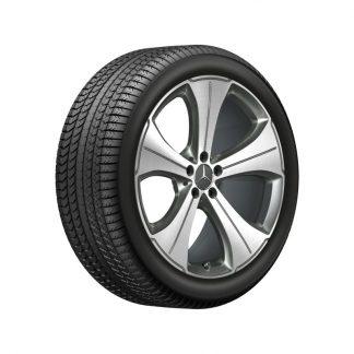 Mercedes-Benz Winterkompletträder Satz, GLS X167, 21 Zoll, 5-Speichen Design, Mischbereifung