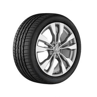 Mercedes-Benz Sommerkompletträder Satz, GLE C292, 20 Zoll, 5-Doppelspeichen Design, Mischbereifung