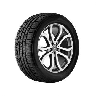 Mercedes-Benz Winterkompletträder Satz, GLE C292, 21Zoll, 5-Doppelspeichen Design, Mischbereifung