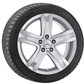 Mercedes-Benz 17 Zoll Sommerkompletträder Satz, GLK X204, 5-Speichen Design