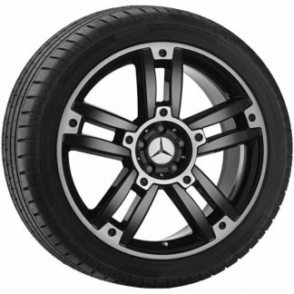 Mercedes-Benz 20 Zoll Sommerkompletträder Satz, GLK X204, 5-Doppelspeichen Design