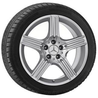 Mercedes-Benz Sommerkompletträder Satz 18 Zoll, E-Klasse S212, W212, 5-Speichen Design