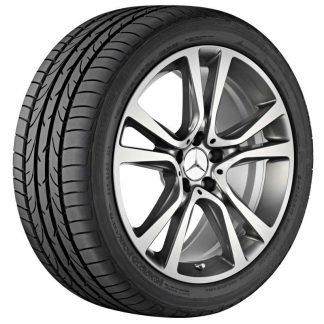 Mercedes-Benz Sommerkompletträder Satz 19 Zoll, E-Klasse S212, W212, 5-Doppelspeichen Design, Mischbereifung