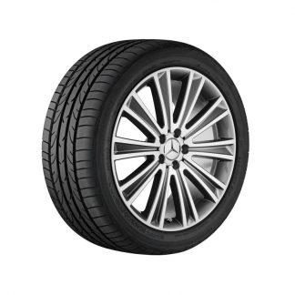 Mercedes-Benz Sommerkompletträder Satz, S-Klasse BR217, BR222, 20 Zoll, 10-Speichen Design, Mischbereifung