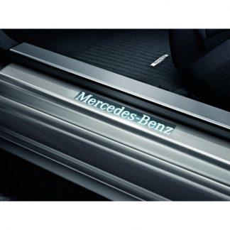 Mercedes-Benz Einstiegsleiste, beleuchtet, vorne, 4-fach (6-teilig), CLS, E-Klasse