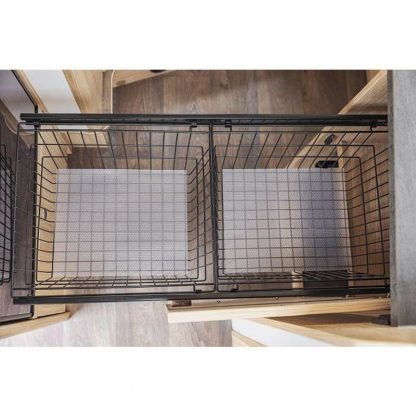 Sunlight Küchenauszug inkl. zwei Drahtkörben und Antirutschmatten