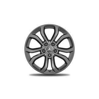 Mercedes-Benz Alufelge, 5-Doppelspeichen-Design, 17 Zoll, C-Klasse