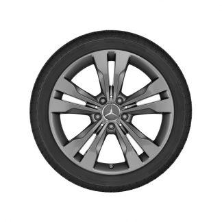 Mercedes-Benz Alufelge, 5-Doppelspeichen-Design, 18 Zoll, A-Klasse, B-Klasse, CLA