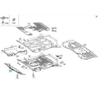 Mercedes-Benz, Geräuschkapsel / Unterfahrschutz vorne