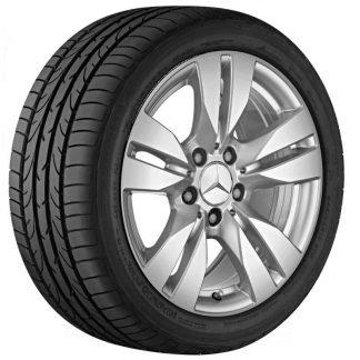 Mercedes-Benz Sommerkompletträder Satz 17 Zoll, E-Klasse, 5-Doppelspeichen Design, S212, W212